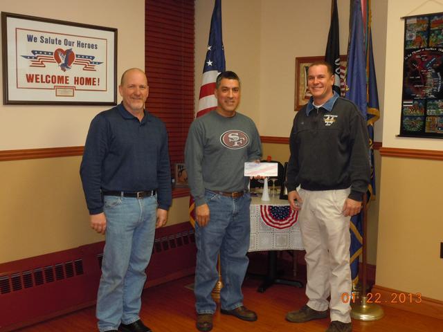 Deputy Chief Deckman, VFW Commander Hernandez, Battalion Chief Sly