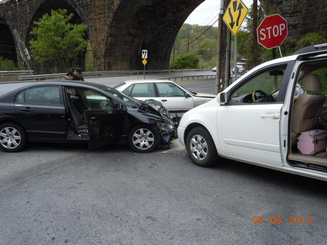 Motor Vehicle Accident in Coatesville City - Westwood Fire Company