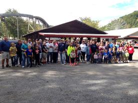 Over 50 members and their families enjoyed another beautiful September day at Knoebels Amusement Resort in appreciation for their service to the community