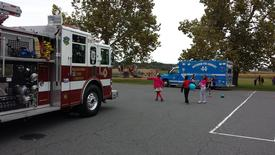 Ambulance 144 joined with the Wagontown Fire Company for Fire Prevention sessions at the Kings Highway Elementary School