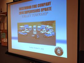 Our annual update on the Fire Company's operations and future goals were reviewed with a Township officials