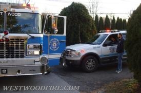 Westwood Fire Company responded to a chimney fire on Tuesday.