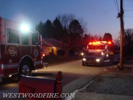 Westwood and Sadsburyville Fire Companies on scene of an early morning house fire in the Hayti section of Valley Township.