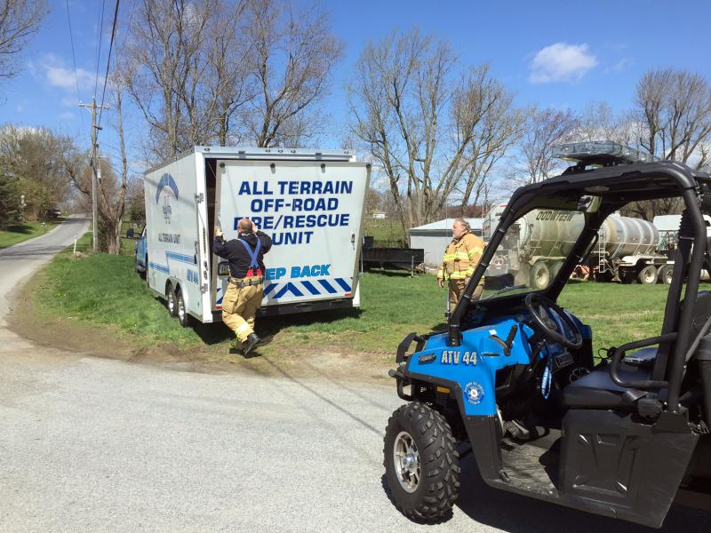 ATV 44 arrives and is deployed at the intersection of Highpoint and Glenville Roads