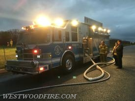 Rescue 44 in service pumping multiple hand lines.