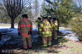 Wagontown, Sadsburyville and Westwood Firefighters extinguish a chicken coop on fire.