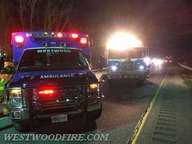 Ambulance 44-1 and Rescue 44 on scene of a motorcycle accident on the Route 30 Bypass.