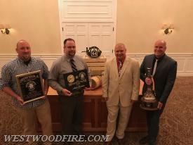 Chief McWilliams with the Fire Chief award recipients.