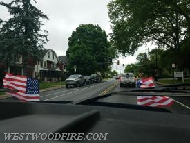 The convoy through Coatesville City.