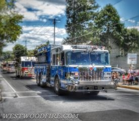 Engine 44-5 participating in the Honey Brook Fire Company's 125th Anniversary Parade