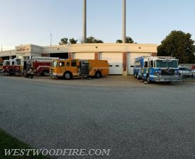 Bart, West Grove and Westwood Fire Companies stand by for Cochranville.