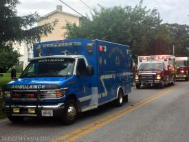 Ambulance 44-1 and Modena Ambulance 37-1 on the scene