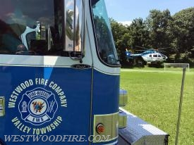 PennSTAR air medical helicopter arrives to display at the event