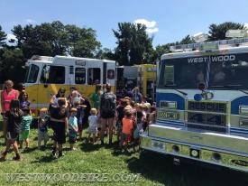 Over 400 attendees had the opportunity to look over various emergency apparatus and speak with personnel at this popular annual event