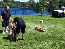 Children were able to learn proper use of a fire extinguisher using this training prop