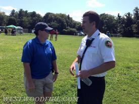 Event organizer Chief Eamon Brazunas from the Berwyn Fire Company