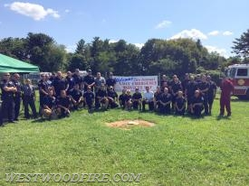 A group photo of all the first responders who participated in this year's event
