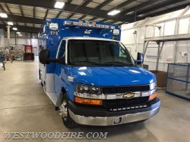 Upon arrival at the factory, Ambulance 44-1 was prepared for inspection