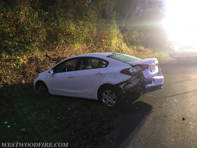 One of the five vehicles involved.