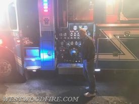 Battalion Chief Sly operates Engine 44-5.