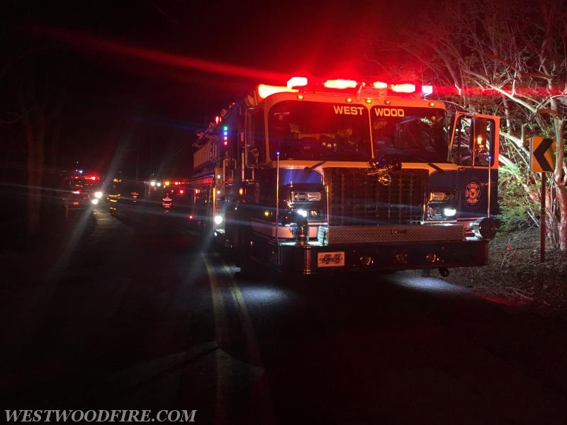 Engine 44-5 lined up on South Caln Road.