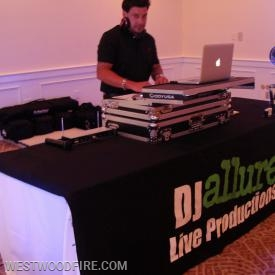 DJ Allure was gracious enough to donate his services for our banquet.
