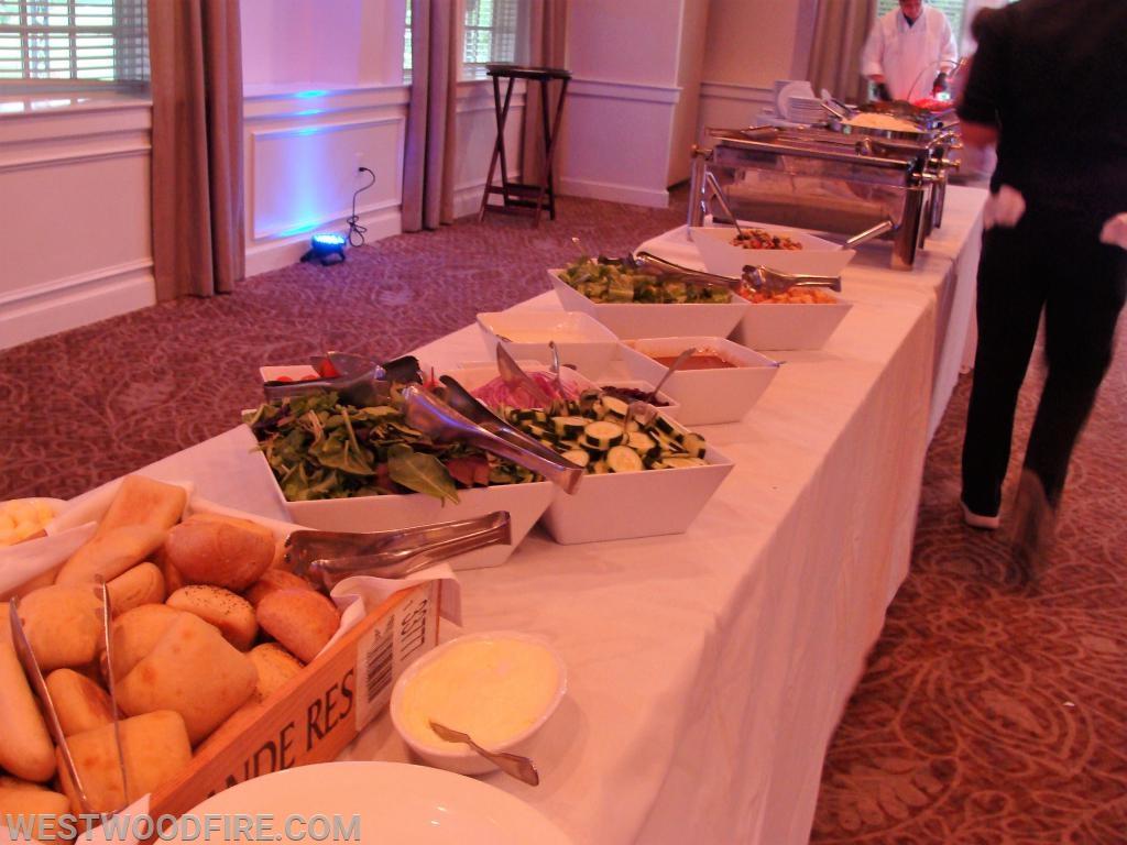 The buffet line.