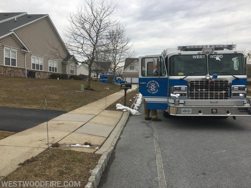 Engine 44-5 and Ambulance 44-1 on scene