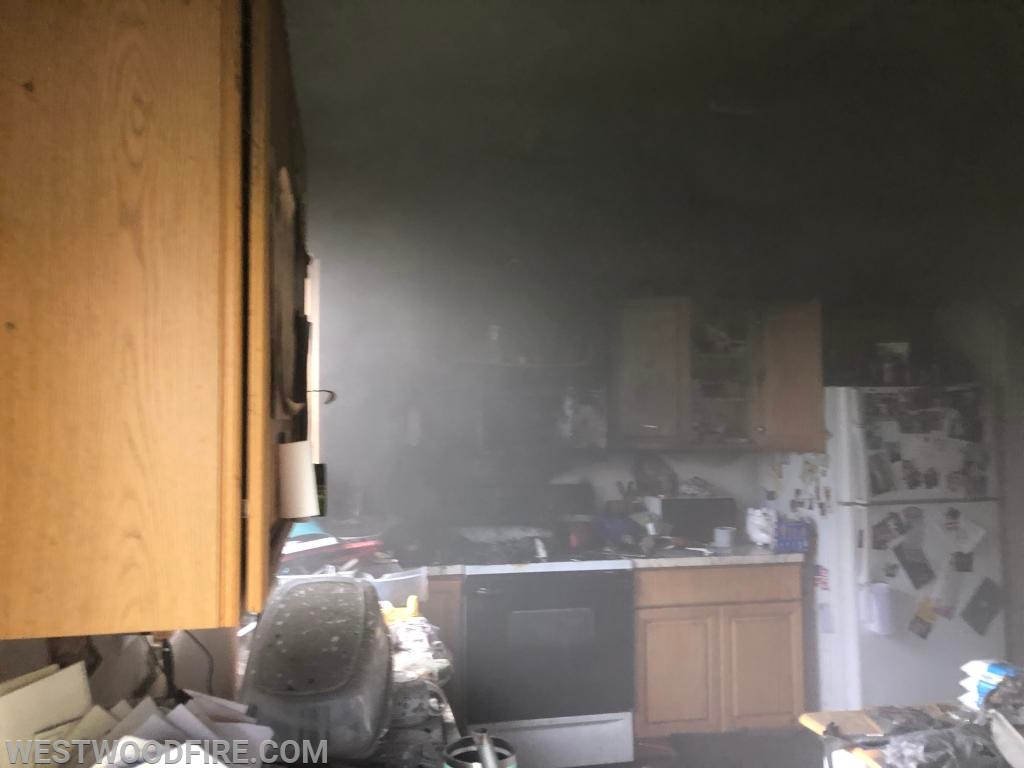 The fire was quickly knocked down and firefighters began ventilation.