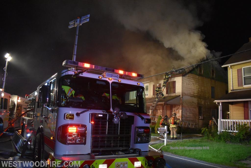 A house fire on Hazlewood Avenue summoned area firefighters.