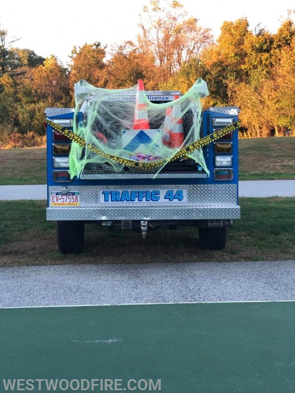 Traffic 44 participated in a trunk or treat event at the Rainbow Elementary School.