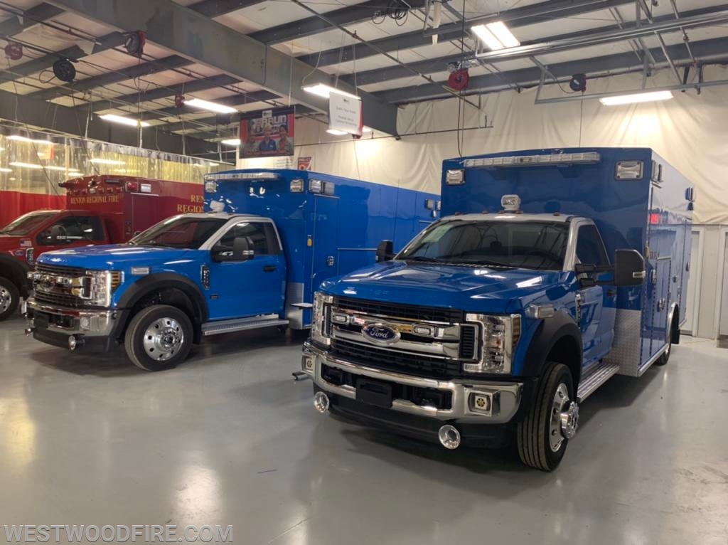 A final inspection was completed on two new Braun Ambulances.