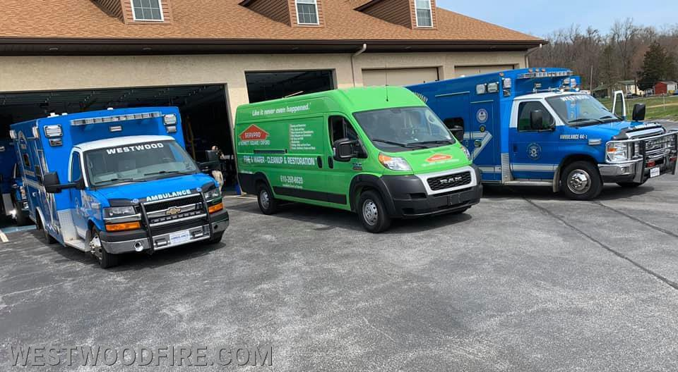 Westwood EMS received a decontamination from ServPro!