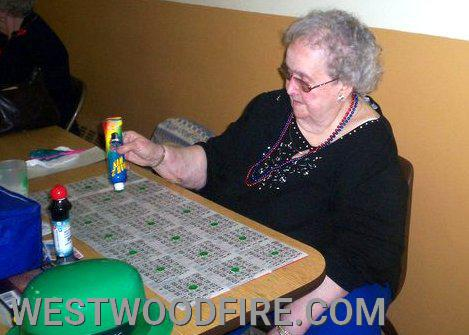 Mrs. Herman enjoying one of her favorite past times at one of our weekly Bingo sessions
