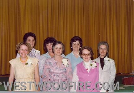 Mrs. McCoy, left rear, pictured with many former members of our Ladies Auxiliary