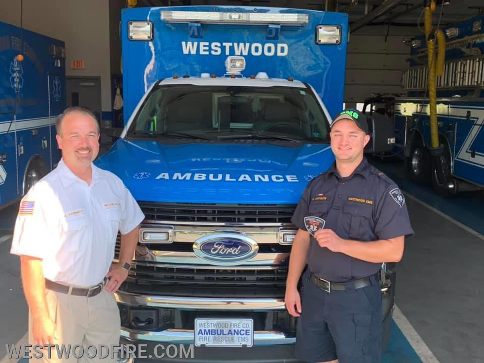 EMS Supervisor Kennedy and now Paramedic Matthew Davison!