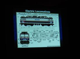 This diagram of Amtrak Electric Locomotives was just one part of an informative training session conducted by Amtrak at our station