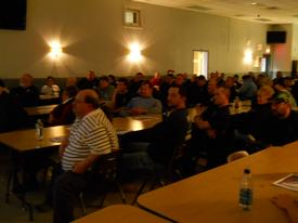 Members from Westwood and neighboring companies learning Amtrak and Railroad Safety