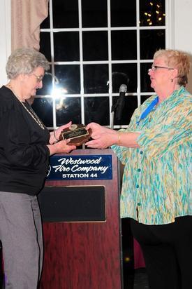 President Amer presenting the 2010 Joseph Sweigart Memorial President's Award to Life Member Mabel McCoy